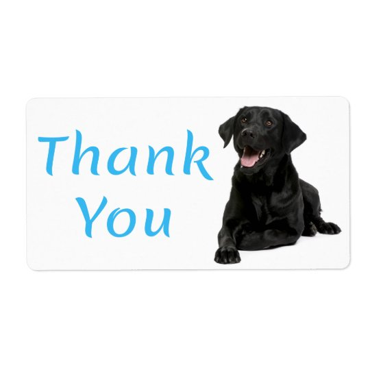 Thank You Black Labrador Retriever  Dog Sticker