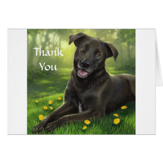 Thank You Black Labrador Retriever  Greeting Card