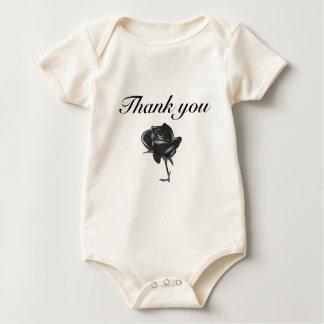 thank you black rose bodysuit