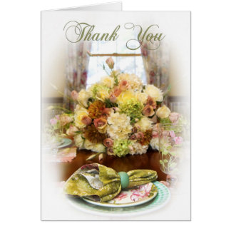 Thank You - Blank Card - Home Setting
