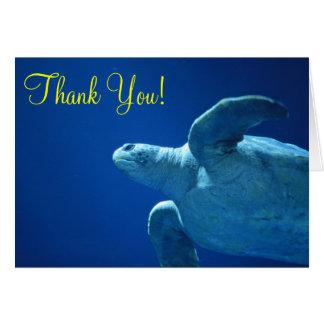 Thank you, Blank, Sea Turtle Card