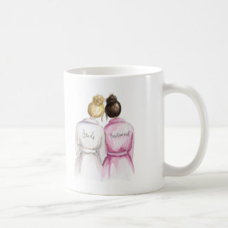 Thank You Blonde Bun Bride Dk Br Bun Bm Classic White Coffee Mug
