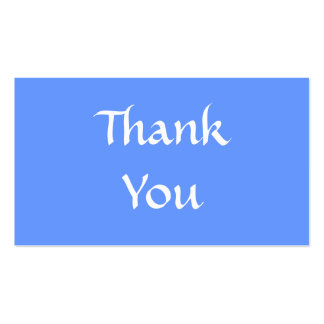 Thank You. Blue and White. Business Cards