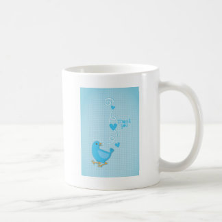 Thank you Blue Bird Classic White Coffee Mug
