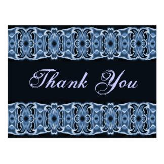Thank You blue black Postcard