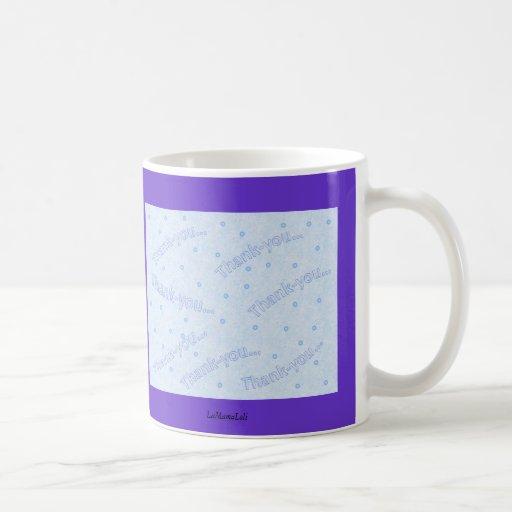 Thank-you blue design mugs