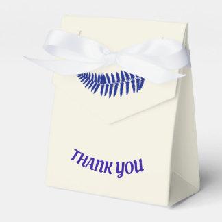 Thank You Blue Fern Favor Box