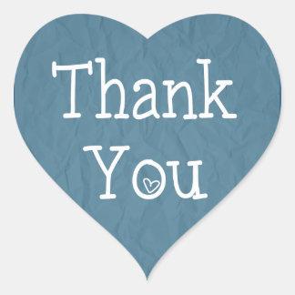 Thank You Blue Heart Sticker