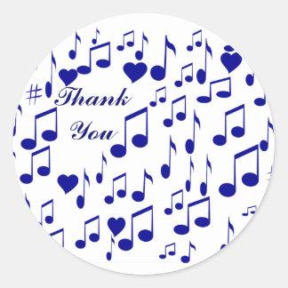 Thank You, Blue Notes_Sticker Classic Round Sticker