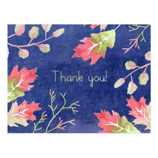 Thank You blue Postcard