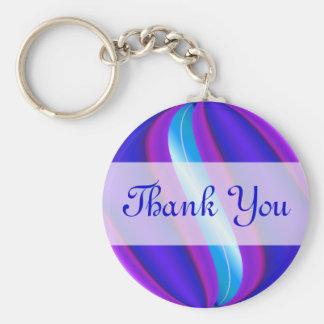 Thank You blue purple Keychain