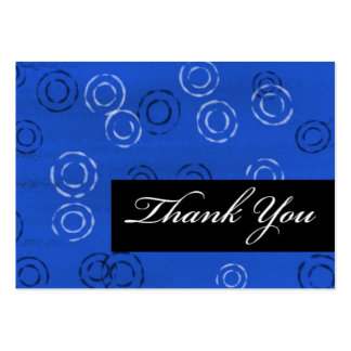 Thank You-blue retro Business Card Template