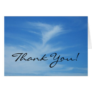 Thank You Blue Sky Card
