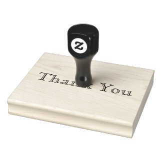 Thank You, Bold Text Words Custom Personalize Rubber Stamp