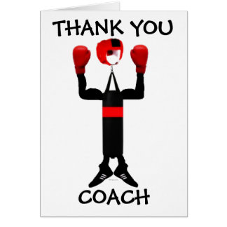 Thank You Boxing Coach Card