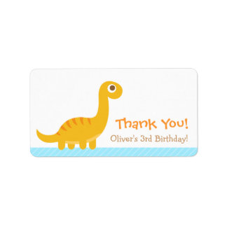 Thank You, Brachiosaurus dinosaur theme party Labels