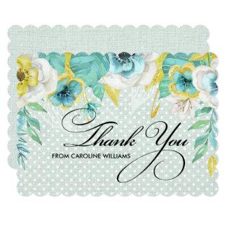 Thank You Bridal Shower Custom Flat Cards
