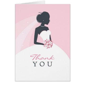 Thank You Bridal Shower Folded Card