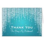 Thank You Bridesmaid Night Dazzle Blue