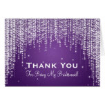 Thank You Bridesmaid Night Dazzle Purple