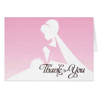 Thank you Bridesmaid Pretty in Pink Wedding Card