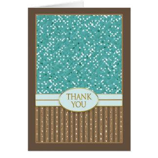 Thank You - Brown/Aqua/Gold - Masculine Touch Card