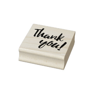 Thank You Brush Script Rubber Stamp