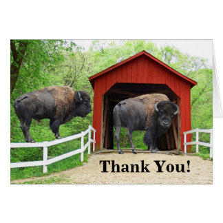 Thank You Buffalo At The Red Covered Bridge Card