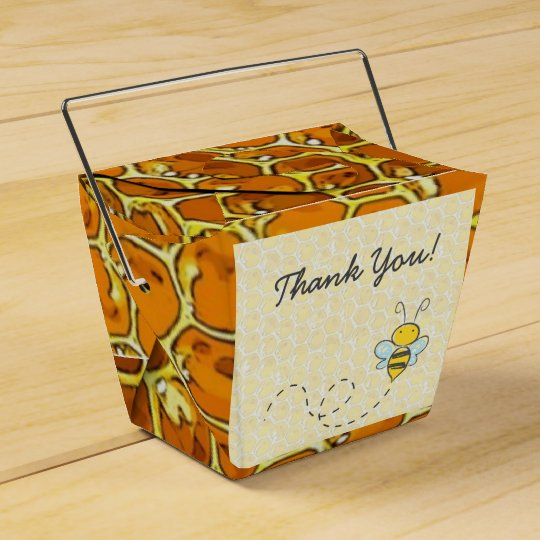 Thank You Bumble Bee Honeycomb Candy Favour Box Wedding Favor Boxes