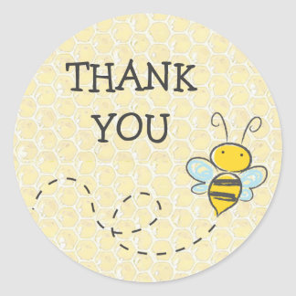 Thank You Bumble Bee Sticker