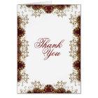 """Thank you"" burgundy vintage wedding Card"