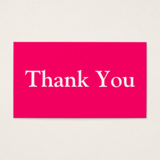 Thank You Business Cards Template Hot Pink Fuchsia