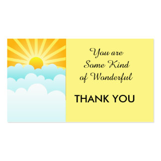 Thank You Business/Personal 100 pack, Sunrise Business Card