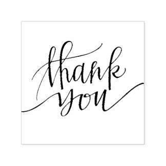 thank you callygraphy self-inking stamp