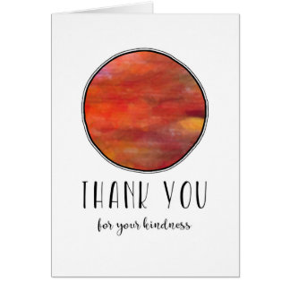 Thank you Calm and Colorful Round Card