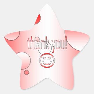 Thank You Canada Flag Colors Pop Art Star Sticker