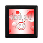 Thank You! Canada Flag Colours Pop Art Gift Box