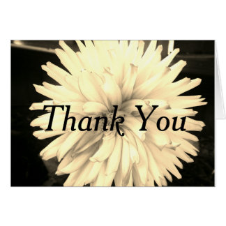 Thank you card black/white floral design
