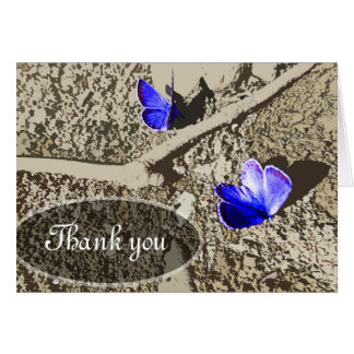 Thank You Card - Butterfly Design