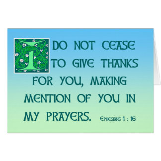 Thank You Card Ephesians 1:16