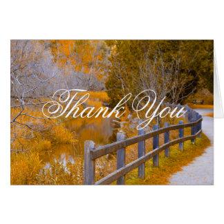 Thank you card fall photo design
