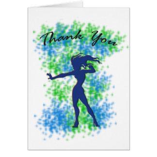 Thank You Card - Female Superhero