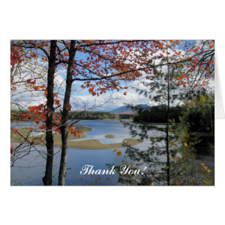 Thank You! Card ~ Flagstaff Lake Maine, USA.