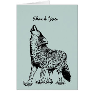 Thank You Card For a howling good time! Wolf