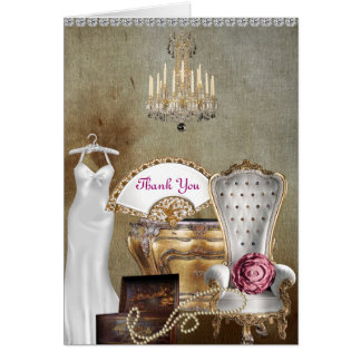 THANK YOU CARD FOR BRIDAL SHOWER ANTIQUE