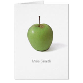 Thank You Card For Teacher - Green Apple