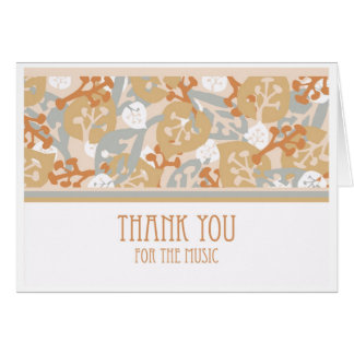 Thank You Card for the Music at Funeral Service