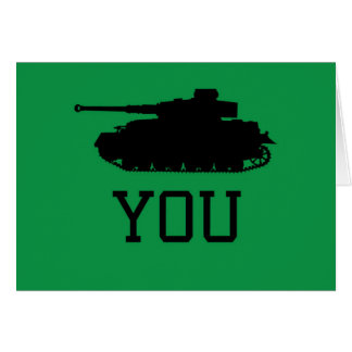 Thank You Card - Funny Tank Design
