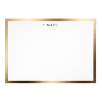 Thank You Card Gold Border