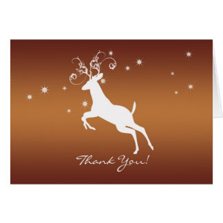 Thank You Card - Leaping Buck